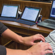 Court Reporter Typing