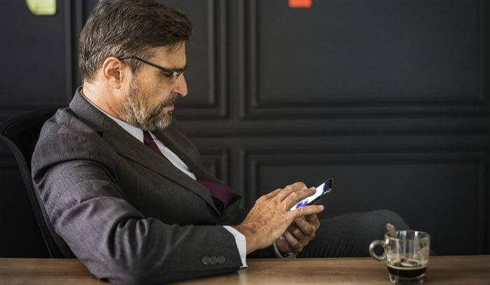 Lawyer Using Smartphone