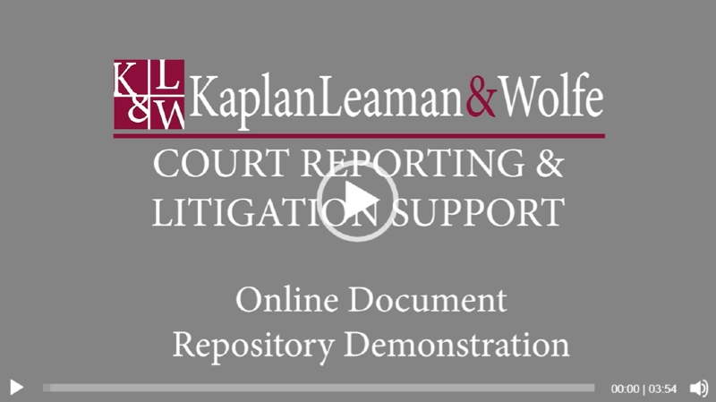 KLW Online Repository Demo